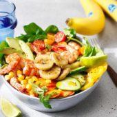 Σαλάτα με γαρίδες και μπανάνες Chiquita