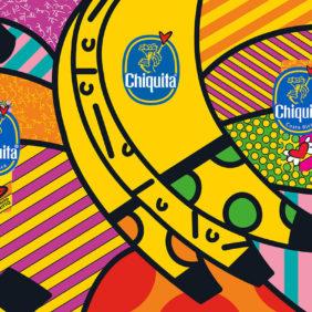 Μπλε Αυτοκόλλητο Chiquita από τον Romero Britto