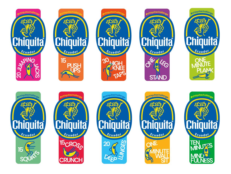 Η Chiquita λανσάρει αυτοκόλλητα γυμναστικής για να ενισχύσει την υγεία και την ευεξία - 1