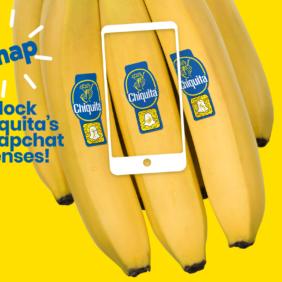 Η Chiquita συνεργάζεται με τo Snapchat για την Παγκόσμια Ημέρα Μπανάνας