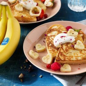 Pancake με μπανάνες Chiquita για την ημέρα του Αγίου Βαλεντίνου