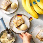 Γερμανικό στρούντελ με αμύγδαλα και μπανάνα Chiquita
