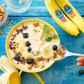 Εύκολο παγωμένο smoothie με μπανάνες Chiquita σε μπολ