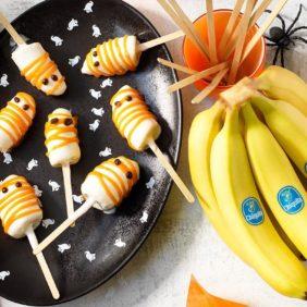 Γλειφιτζούρια-φαντάσματα με μπανάνα Chiquita για το Haloween| συνταγές μπανάνας