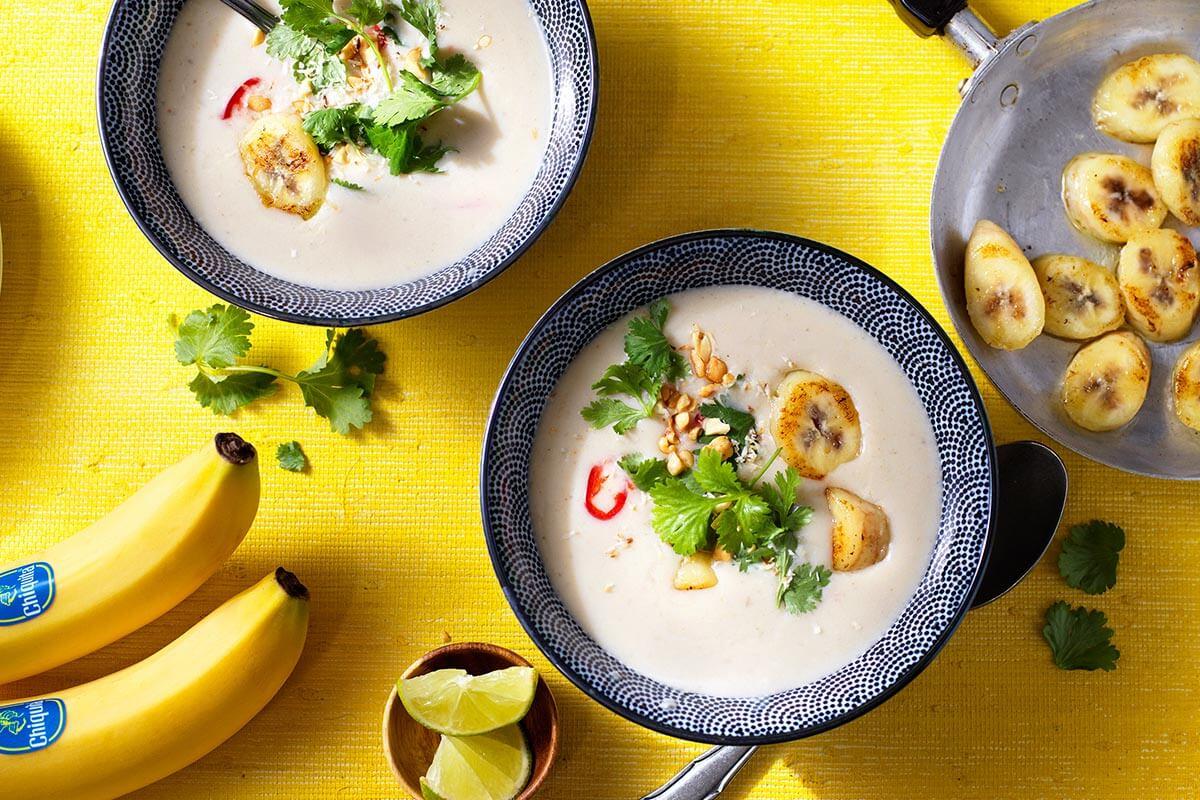 Υγιεινή Ταϊλανδέζικη Σούπα Κάρυ-Καρύδας με Μπανάνες Chiquita