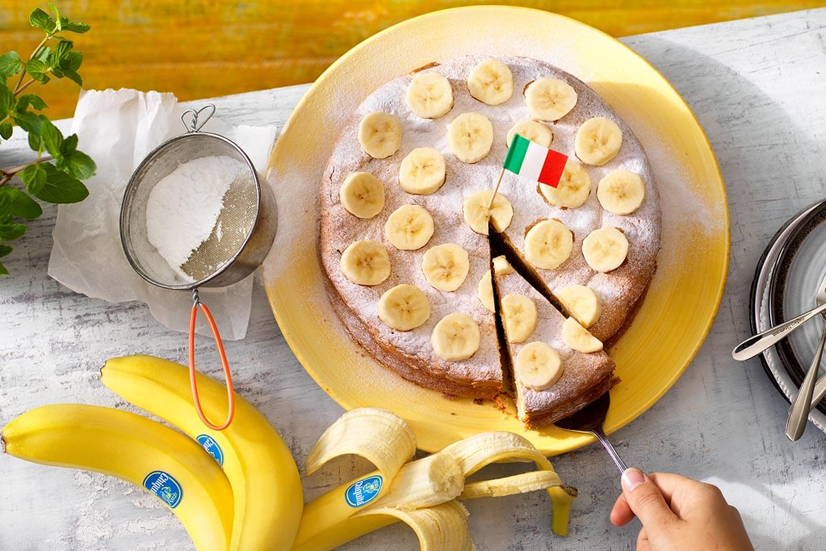 Ιταλική τούρτα Paradiso με μπανάνα Chiquita
