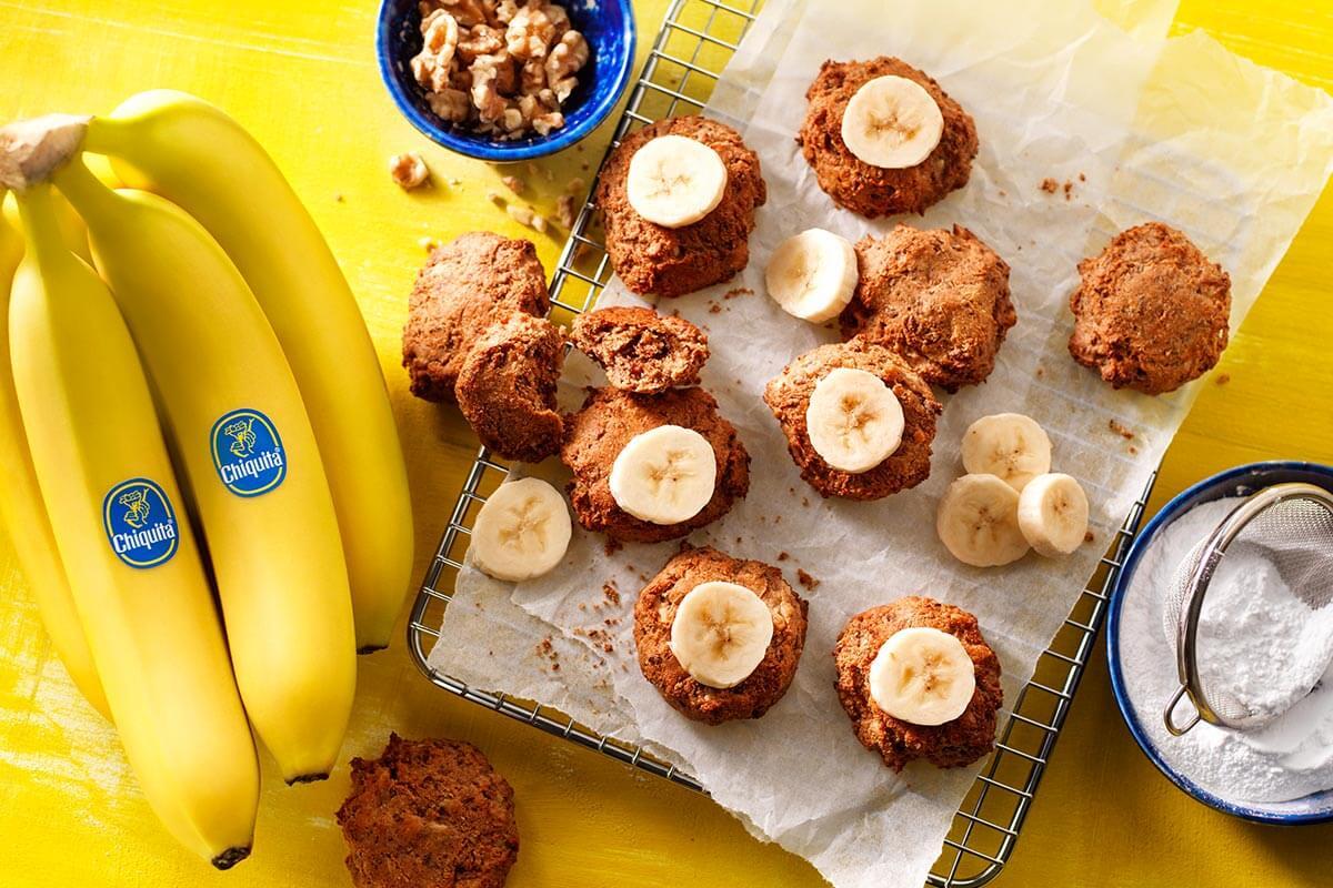 Αφράτα vegan μπισκότα με ώριμες μπανάνες Chiquita
