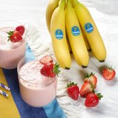 Γρήγορο smoothie με φράουλα και μπανάνα Chiquita