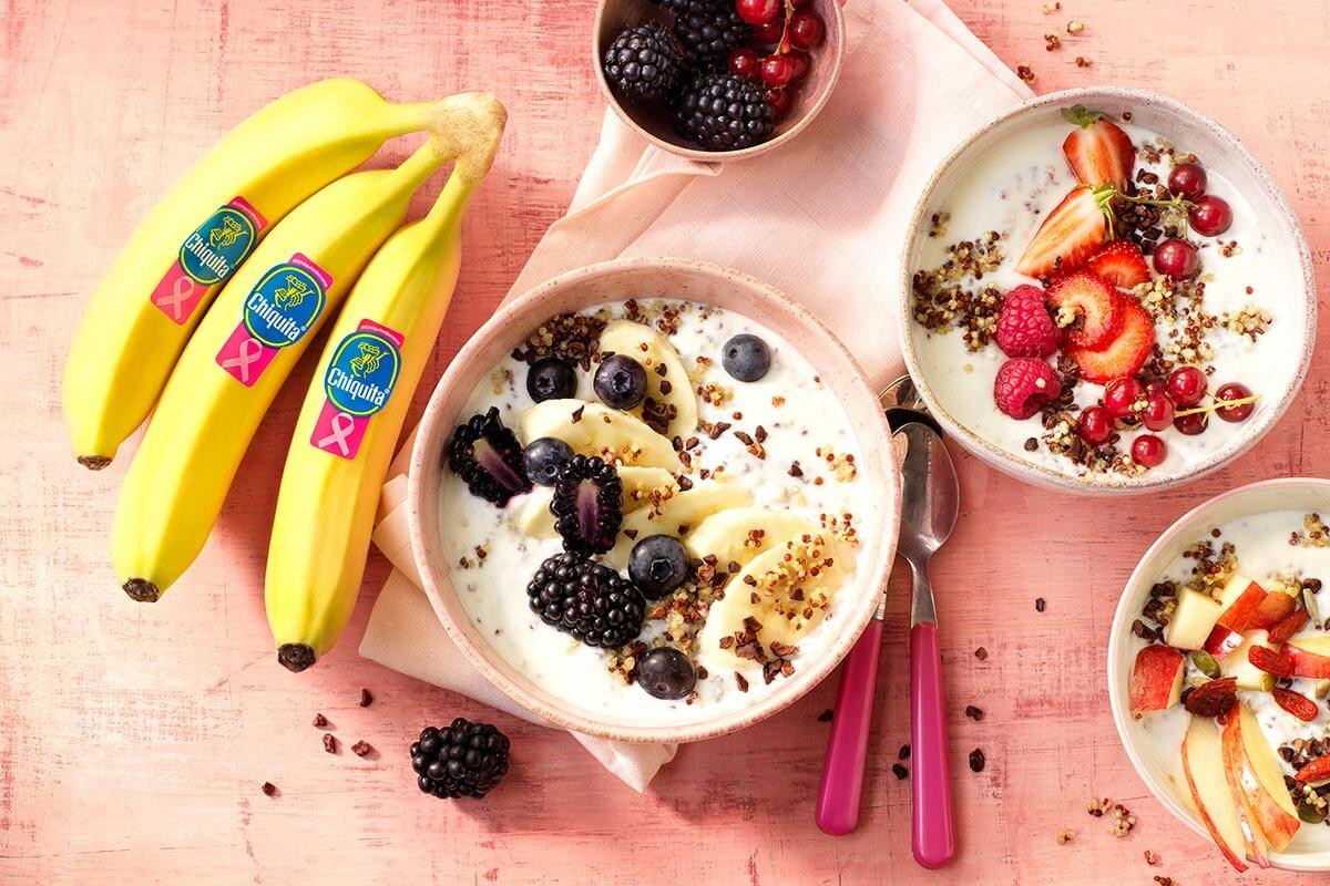 Πρωινό με κινόα, μπανάνα Chiquita και άπαχο ελληνικό γιαούρτι