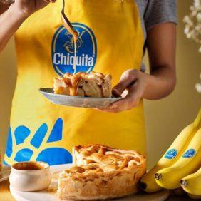 Πίτα με μπανάνα Chiquita και καραμέλα