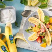 Τροπικό μπανάνα σπλιτ με βιολογικές μπανάνες Chiquita, καρύδα και δυόσμο