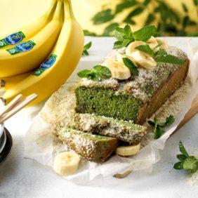 Vegan κέικ με βιολογικές μπανάνες Chiquita και πάνδανο| συνταγές μπανάνας