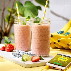Smoothie με φράουλες και μπανάνες Chiquita