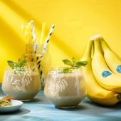Smoothie με μπανάνες Chiquita και πράσινο τσάι