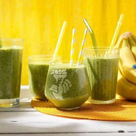 Υγιεινό smoothie με σπανάκι και μπανάνες Chiquita