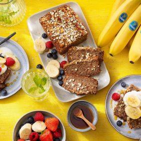 Ψωμί με μπανάνες Chiquita και βρώμη