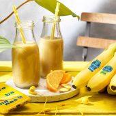 Smoothie με μπανάνα Chiquita, πορτοκάλι και τζίντζερ