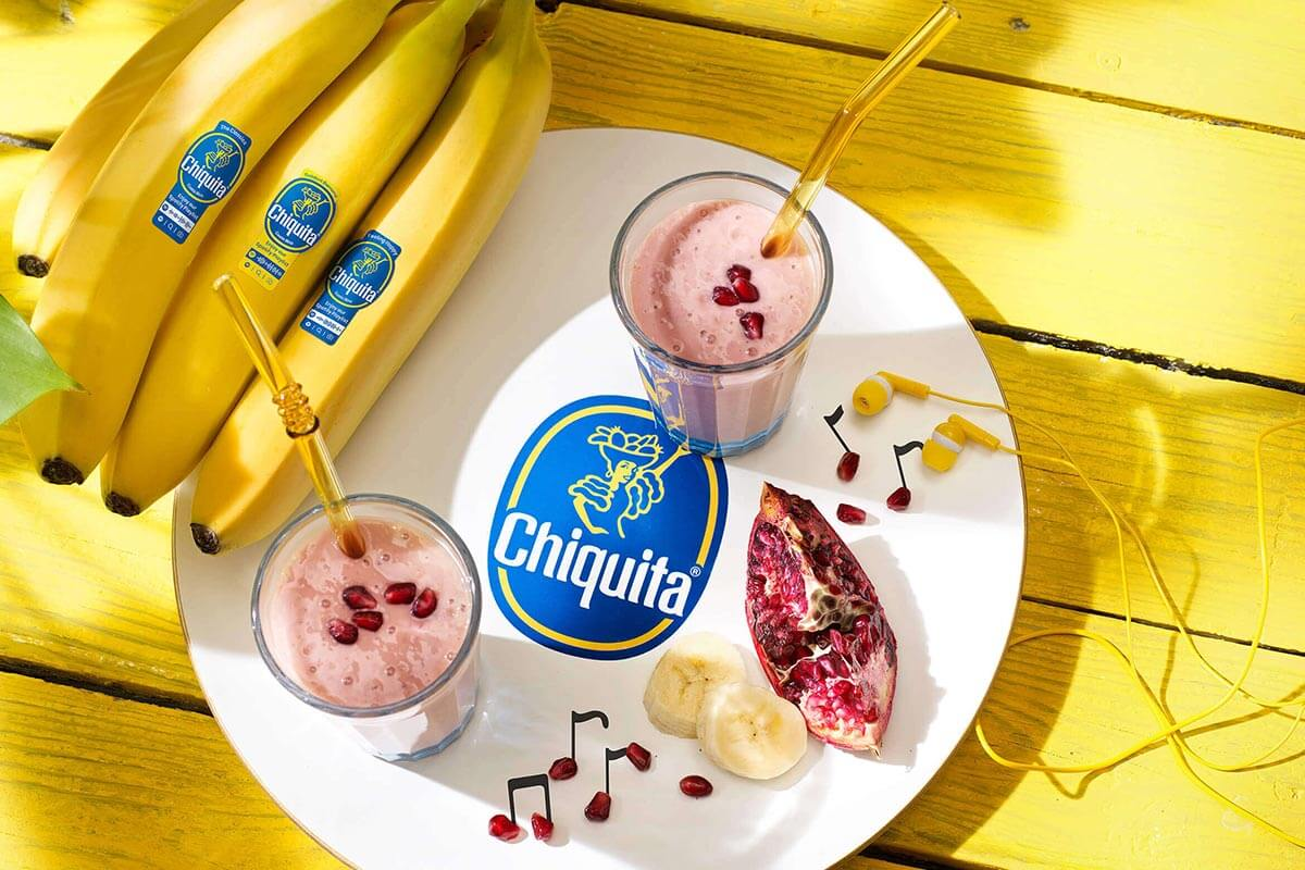 Smoothie με μπανάνες Chiquita και ρόδι