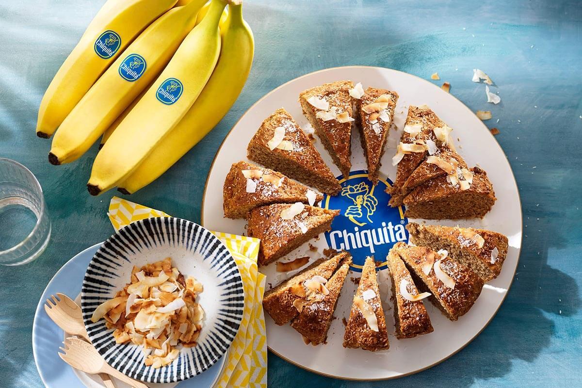 Vegan ψωμί καρύδας με μπανάνες Chiquita