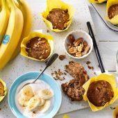 Vegan muffin με πεκάν και μπανάνες Chiquita