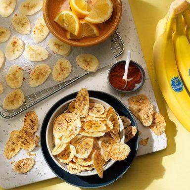 Υγιεινά τσιπς μπανάνας Chiquita στο φούρνο