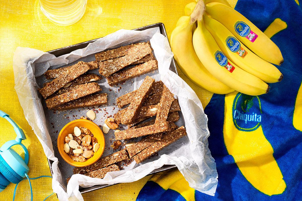 Μπάρες Πρωτεΐνης Χωρίς Ψήσιμο με Μπανάνα Chiquita και Ξηρούς Καρπούς