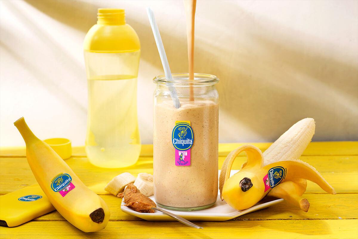 Ρόφημα με Φυστικοβούτυρο και Μπανάνα Chiquita για Γυμναστική
