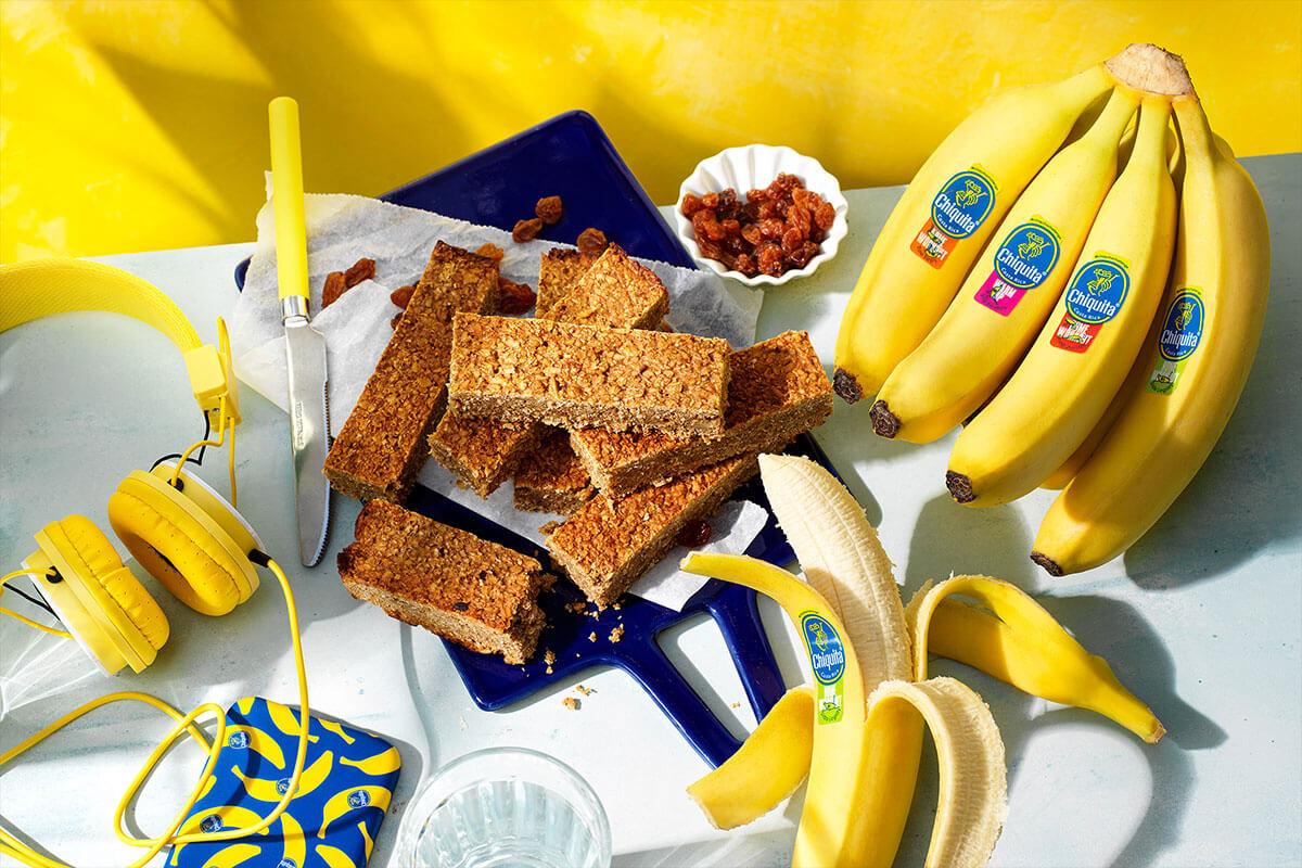 Μπάρες Πρωτεΐνης με Γεύση Μπανανόψωμου Chiquita για πριν την Προπόνηση