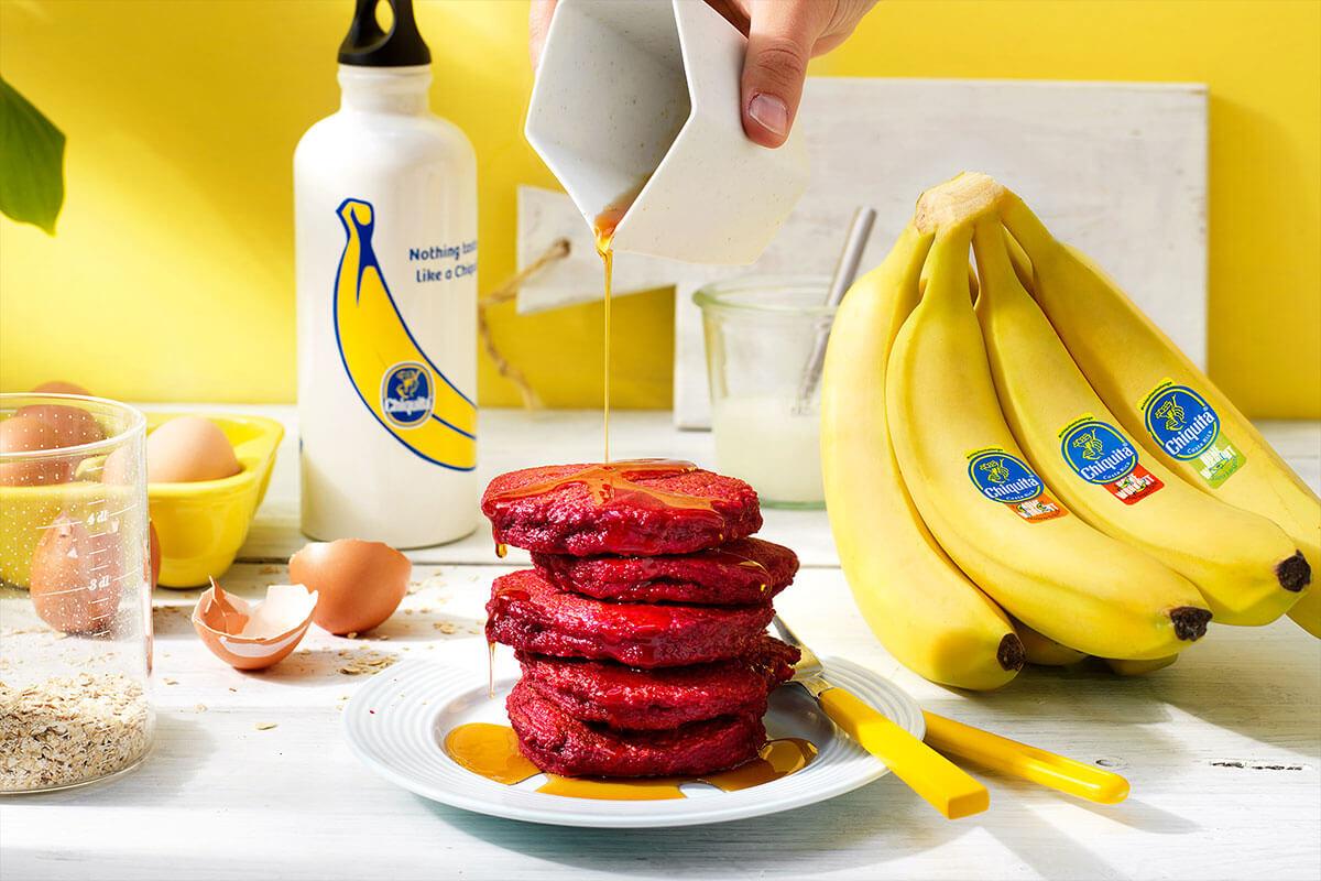 Τηγανίτες με Μπανάνα Chiquita και Παντζάρι ιδανικές για μετά την άσκηση Βαθύ Κάθισμα