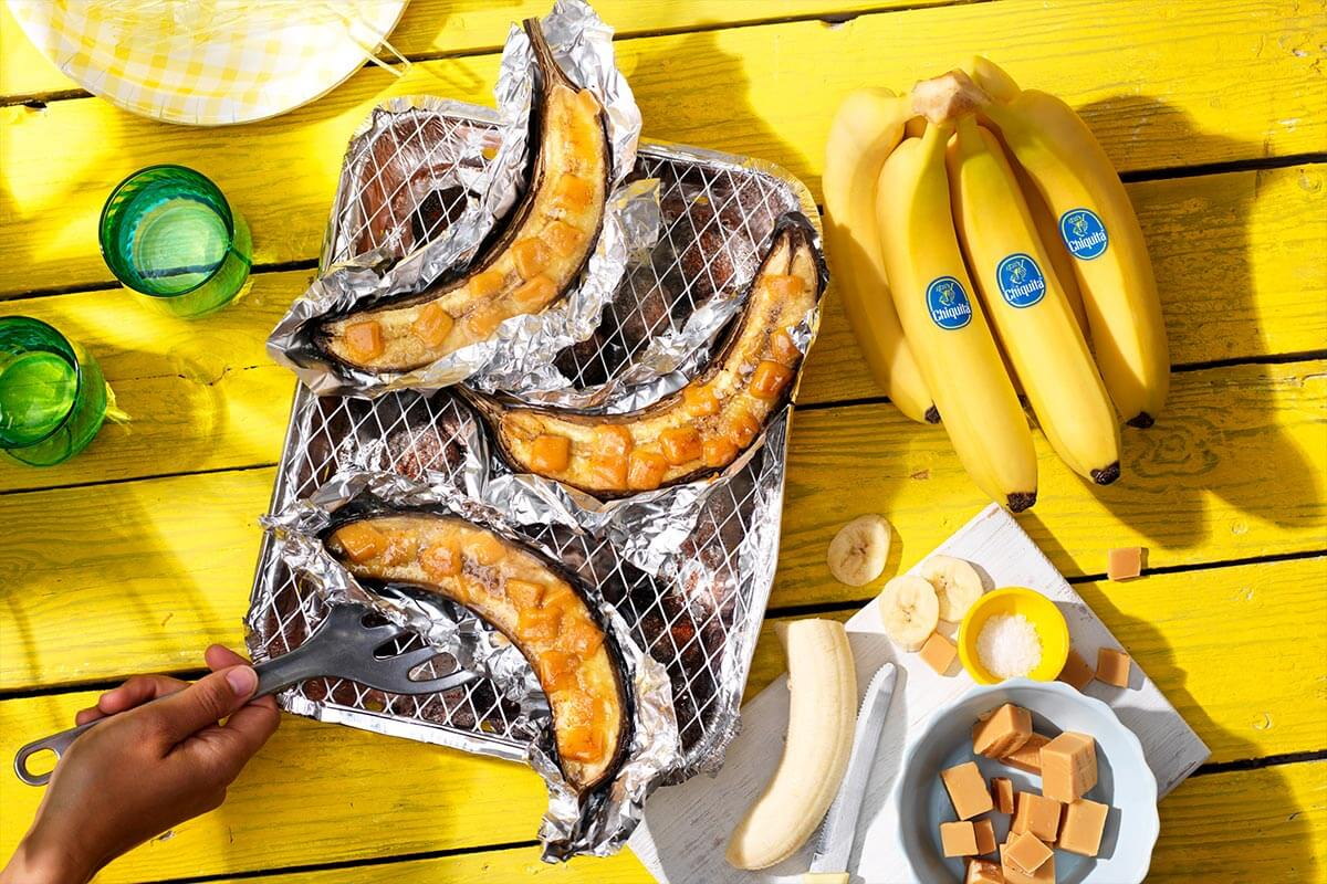 Καραμελωμένες BBQ μπανάνες Chiquita