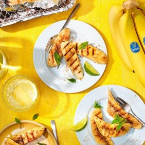 BBQ ψητές μπανάνες Chiquita με κανέλα