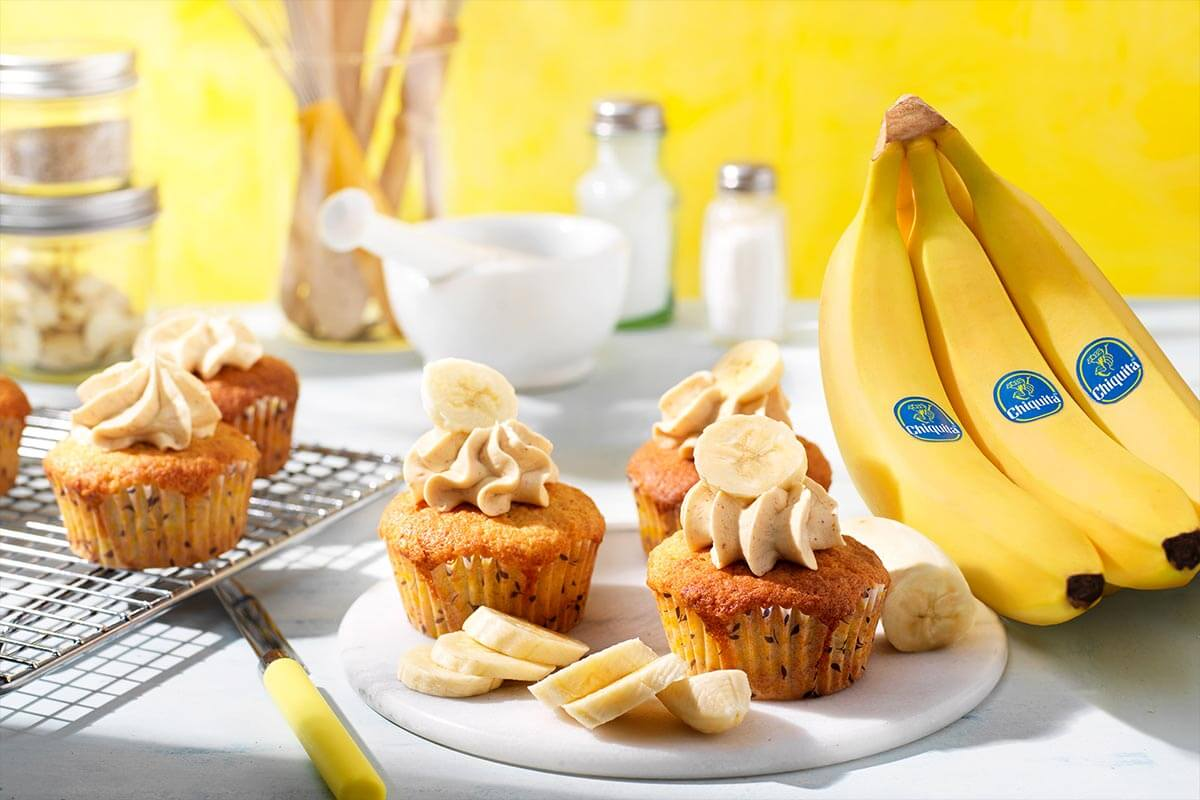 Cupcake με Φυστικοβούτυρο και Μπανάνα Chiquita