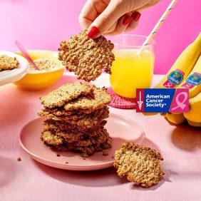 Μπισκότα δύο συστατικών με νιφάδες βρώμης και μπανάνες Chiquita