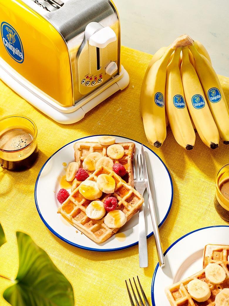 Vegan Βάφλες Μπανανόψωμου Chiquita
