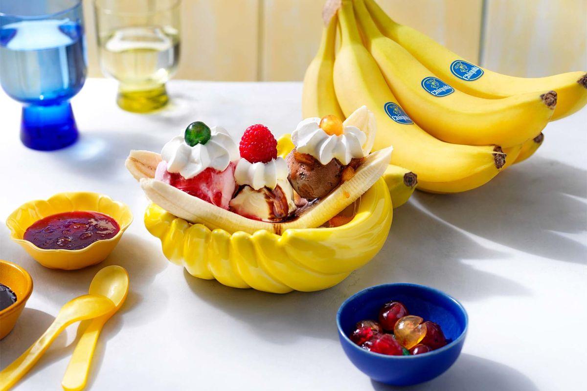 Μπανάνα σπλιτ από τη δεκαετία του '50 με μπανάνες Chiquita