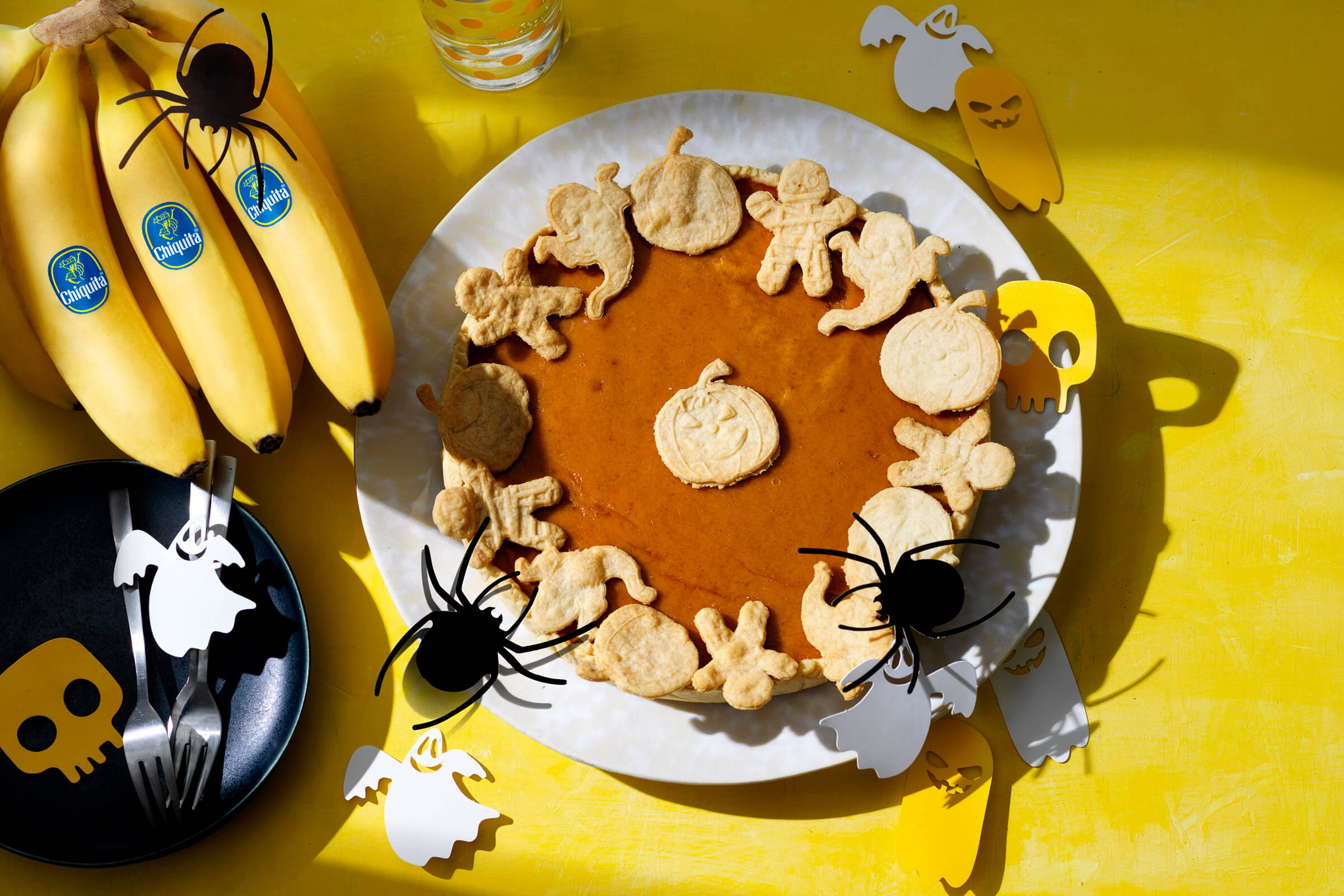 Εύκολη Τάρτα Κολοκύθας με Μπανάνες Chiquita για το Halloween