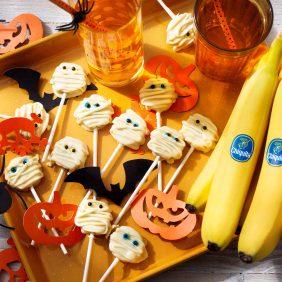 Ξυλάκια με Μπανάνα Chiquita για το Halloween