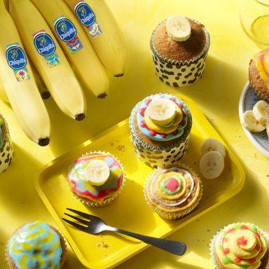 Καλλιτεχνικά cupcakes με μπανάνα Chiquita