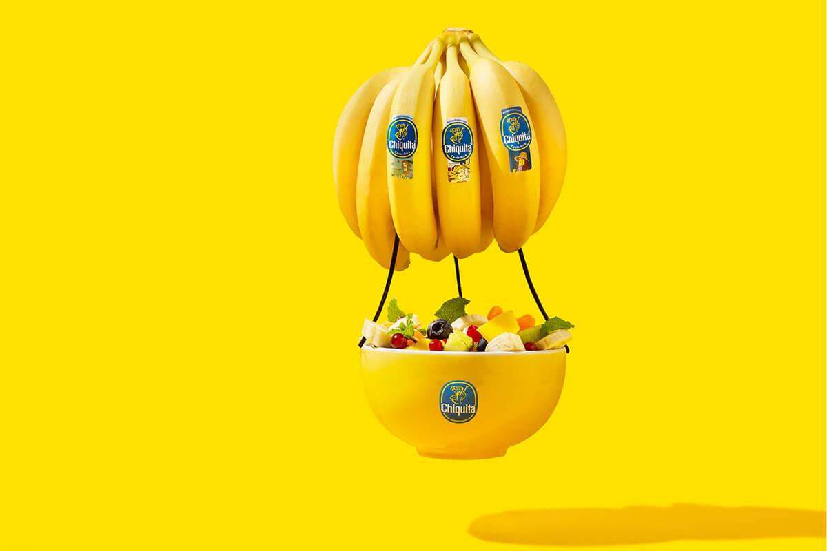 Κλασικό Μπωλ Φρουτοσαλάτας με Πλωτή Μπανάνα Chiquita