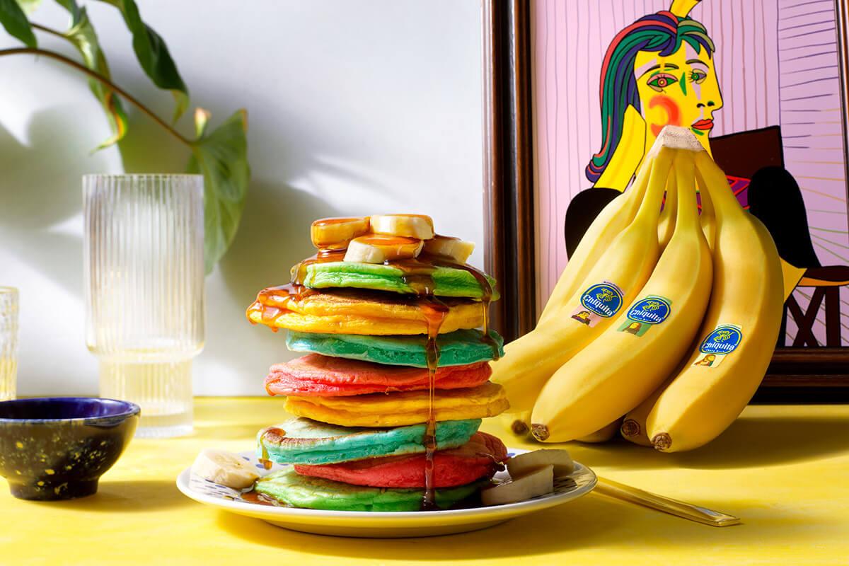 Πολύχρωμα και αφράτα pancake με μπανάνα Chiquita