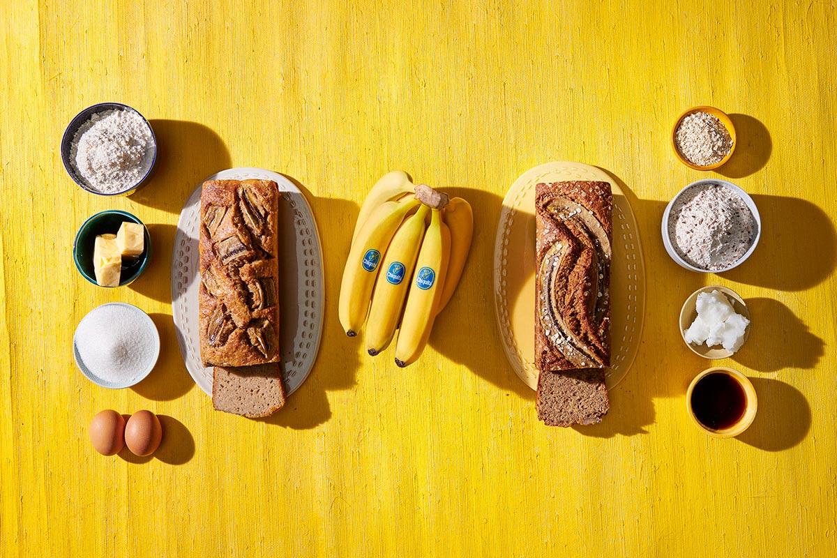 Συνταγές ψωμιού μπανάνας με συστατικά υποκατάστατων