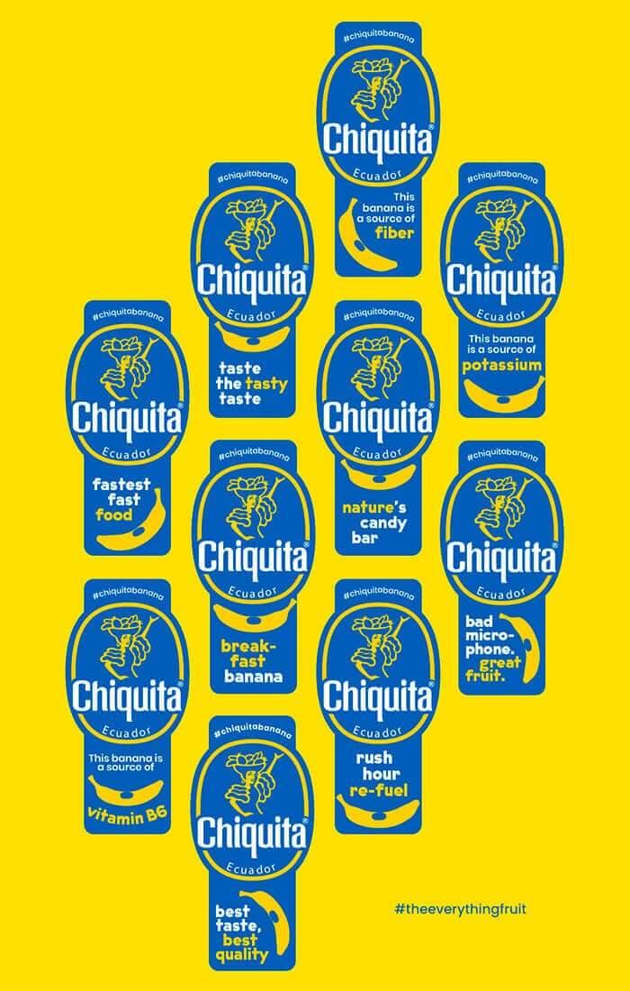 Μπανάνα Chiquita: Aυτοκόλλητα