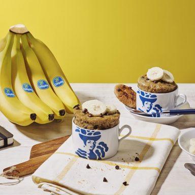 Cookie με μπανάνες Chiquita και νιφάδες σοκολάτας σε κούπα