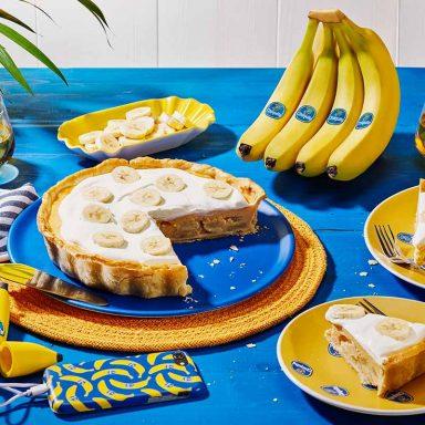 Τάρτα με κρέμα από μπανάνες Chiquita