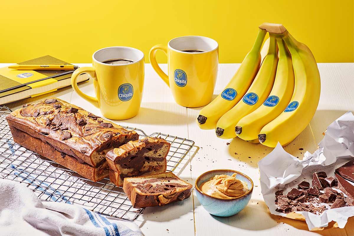 Μπανανόψωμο Chiquita με φιστικοβούτυρο και σοκολάτα