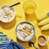 Μπολ με βούτυρο αμυγδάλου, καρύδα και μπανάνα για πριν από τη γυμναστική από την Chiquita