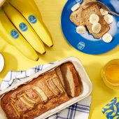 Banana bread ολικής άλεσης για δίαιτα Dash από την Chiquita